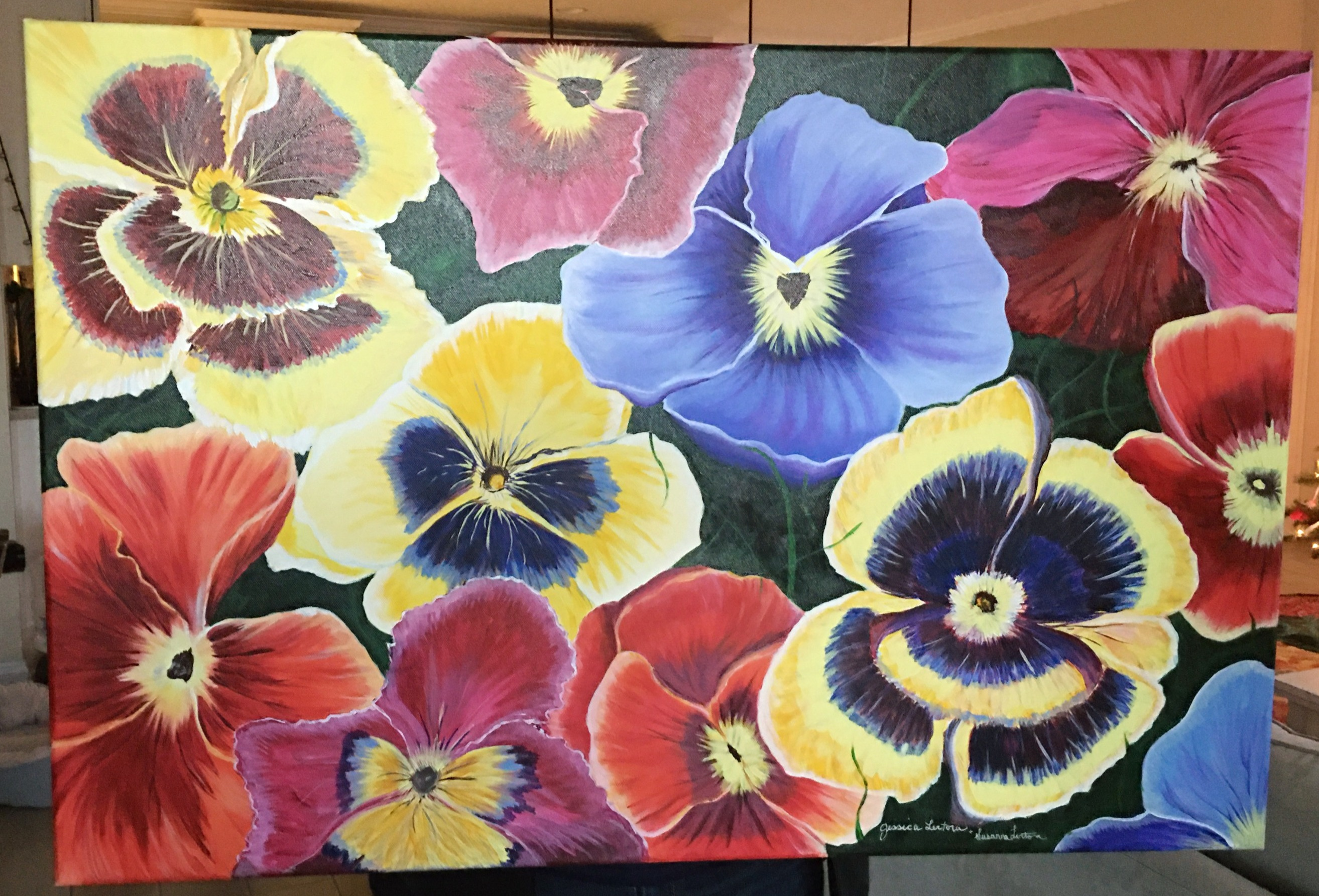 Mommom's Pansies