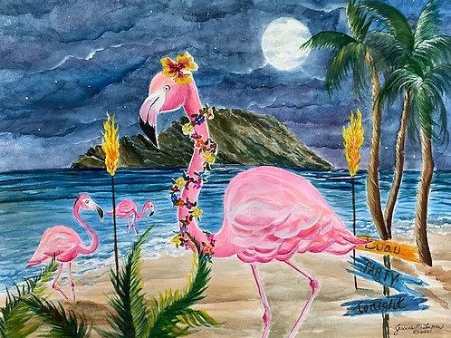 """""""Ready to Flamingle"""" Print"""