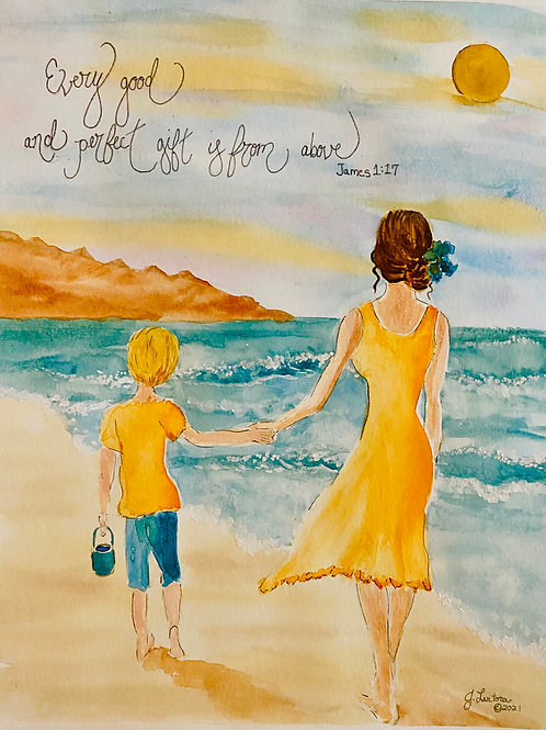 """""""Mother and Son"""" Print"""