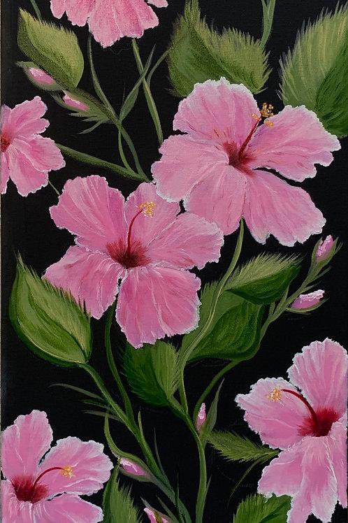"""Pink Hibiscus"" Original Painting"