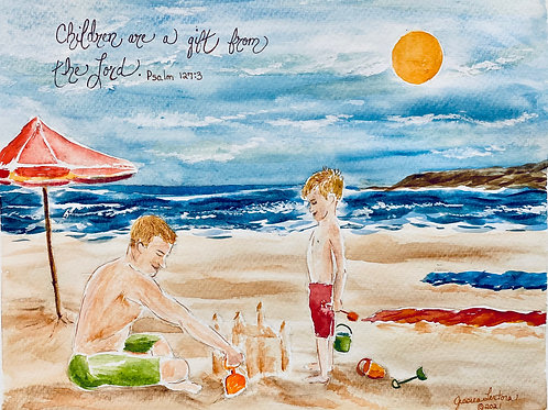"""""""Daddy and Me"""" Print"""