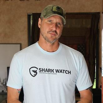 Adam Sugalski Wearing Shark WatchTee