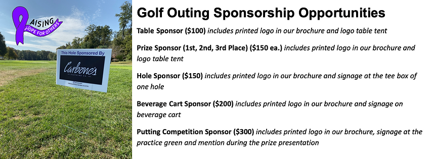 RHO Golf Outing Sponsorship Opportunitie