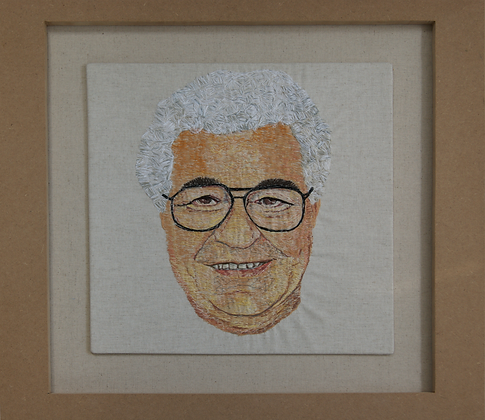 My Friend Carluccio - Original Stitched Artwork
