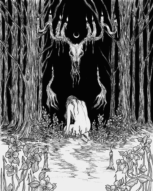 Wendigo Moon Fine Art Print