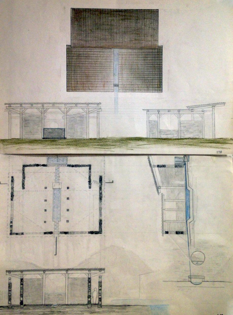 drawings of tea house