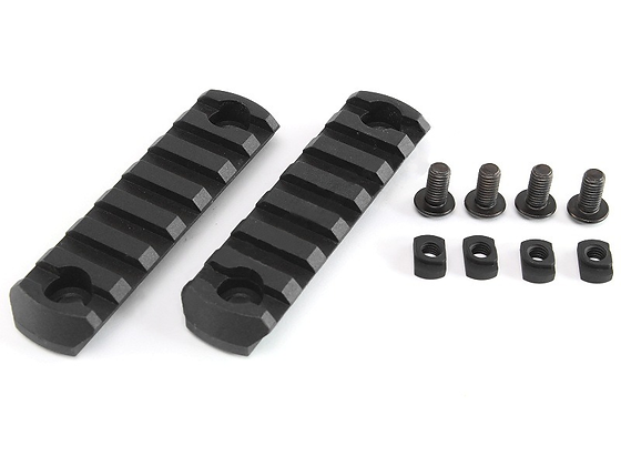 Polymerové RIS lišty pro M-LOK 80mm 2 kusy