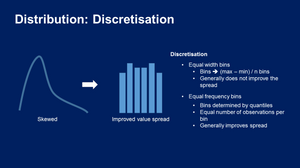 Variable Discretisation for Machine Learning