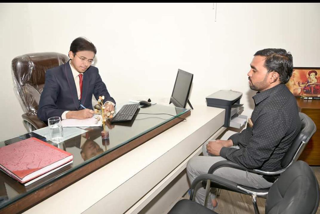Dr Yogesh Jadhav with patient