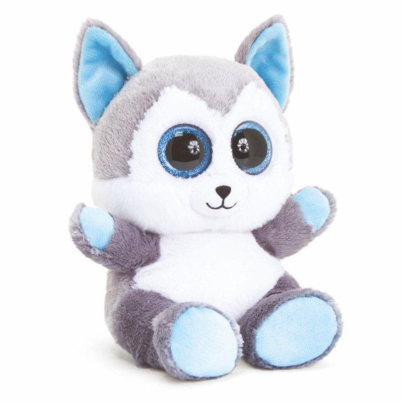 Silver Fox Stuffed Animal, 15cm Animotsu Christmas Silver Fox Plush Toy Baby Bebe