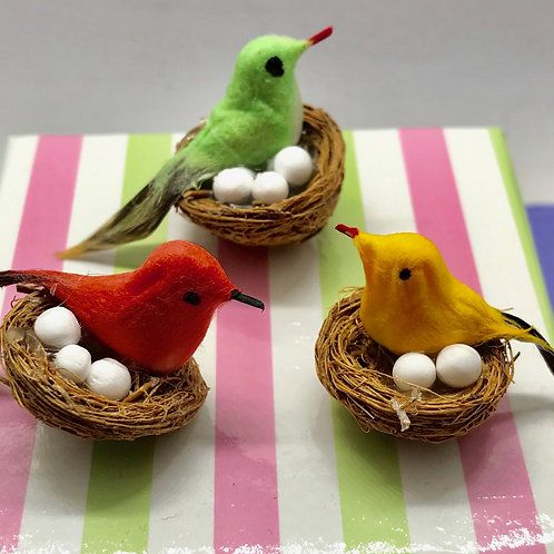 Nid d'oiseau miniature, maisons de poupées, jardin