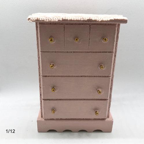 Chifonnier miniature1/12, maison de poupée