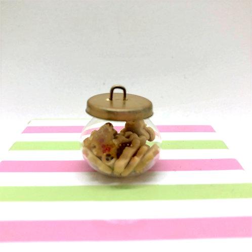 Jarre à biscuits miniature 1:12, maison de poupée