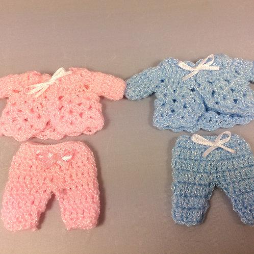 Ensemble layatte crochet  miniature, maison de poupée 1:12