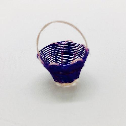 Panier en paille miniature 1/12, maison de poupée