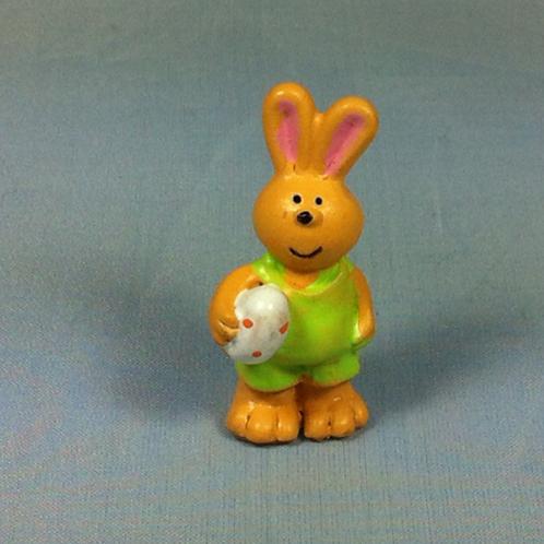 Lapin salopette miniature 1/12, maison de poupée