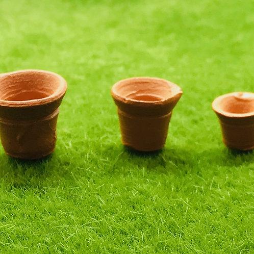 Pots terre cuite miniature