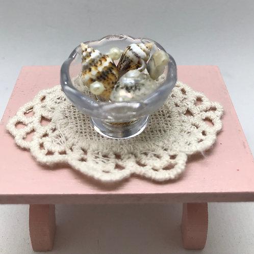Coupe a coquillages miniature 1/12, maison de poupée