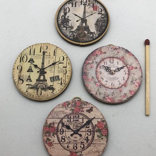 Horloge murale miniature 1/12, maison de poupée