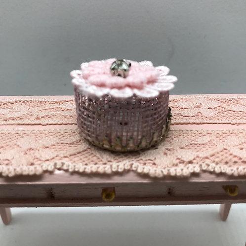 """Boite miniature """"Fleur"""" 1/12, maison de poupée"""
