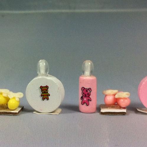 Set de toilette bébé miniature, maison de poupée