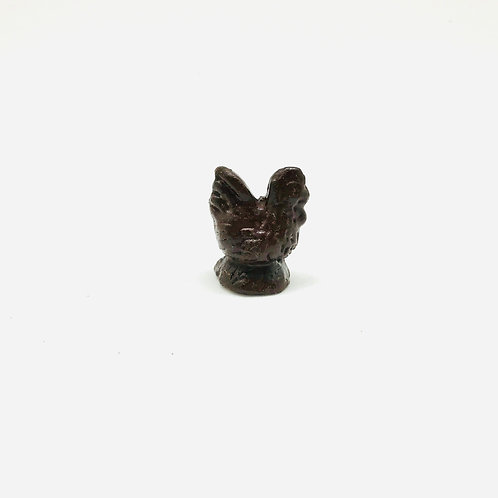 Poule au chocolat miniature, maison de poupée