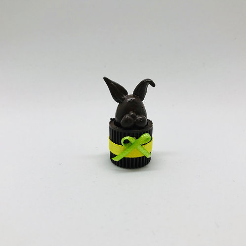 Lapin Pâques miniature pour maison de poupée