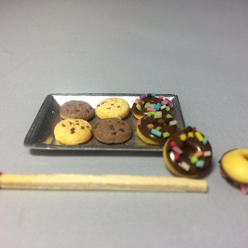 Donuts et cookies miniature, maison de poupée