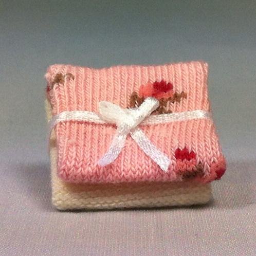 Plaids pour bébé miniature 1/12, maison de poupée