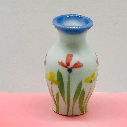 Vase fleurs miniature, maison de poupée
