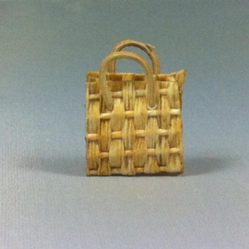 Panier plat miniature 1/12, maison de poupée