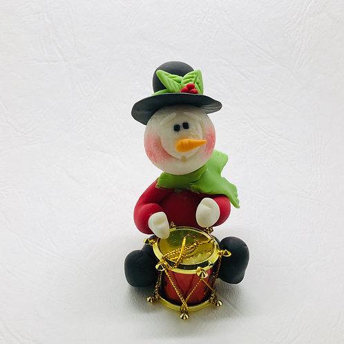 Bonhomme de neige avec tambour miniature 1:2