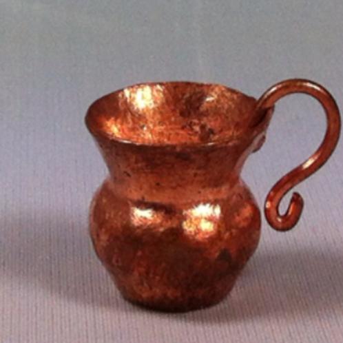Tasse en cuivre miniature 1/12, maison de poupée