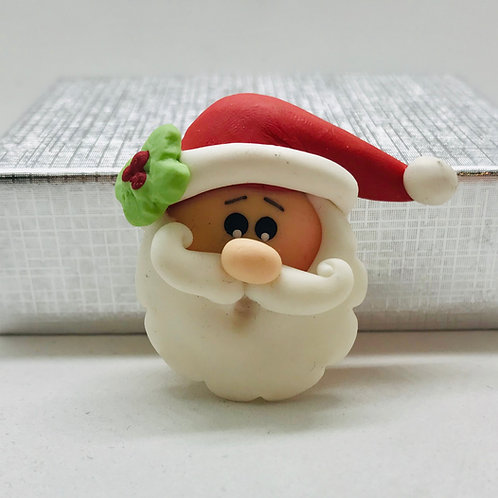 Tête père noël miniature