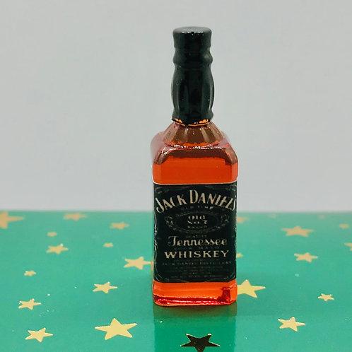 Bouteille de whisky miniature, maison de poupée