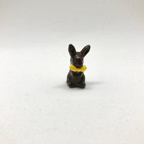 Lapin au chocolat miniature, maison de poupée