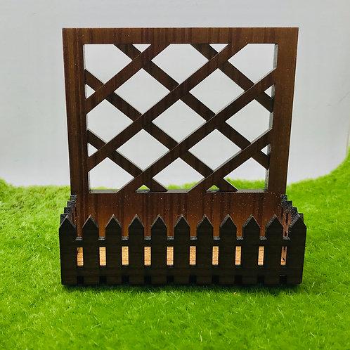 Jardinière avec claustra miniature