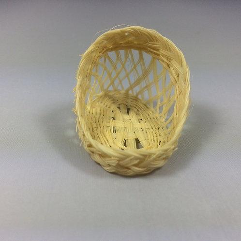 Couffin miniature en paille