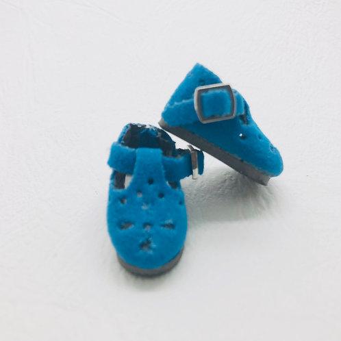 Chaussures velours bleu Blythe, Pullip