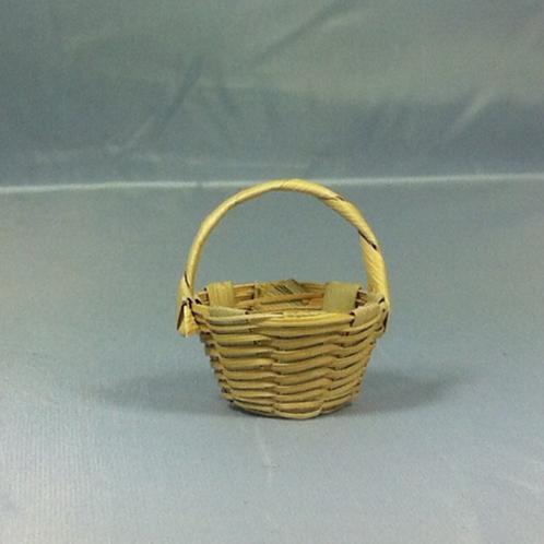 Panier miniature en paille, maison de poupée