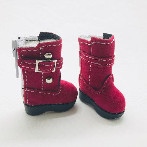 Bottes velours rouge Blythe, Pullip