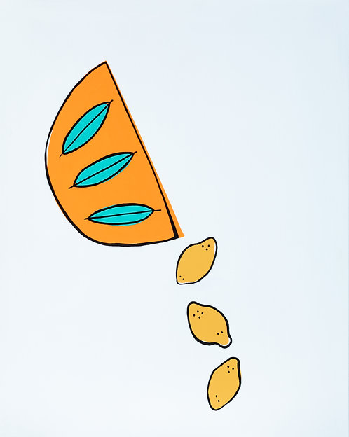 Spilled Lemons Canvas
