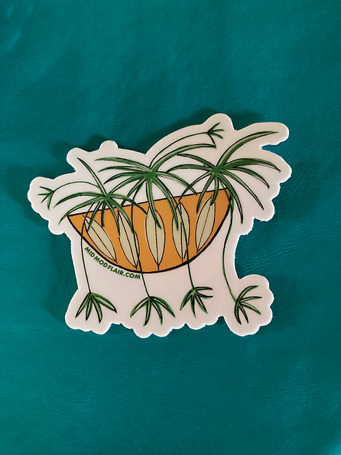 Spider Plant Sticker - $3