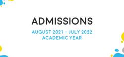 Admission 2021-2022