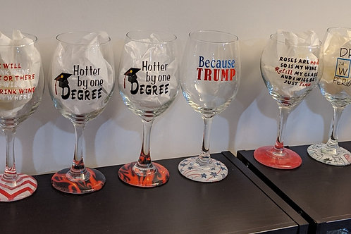 Pre-Made Creations: Group 3 Wine Glasses