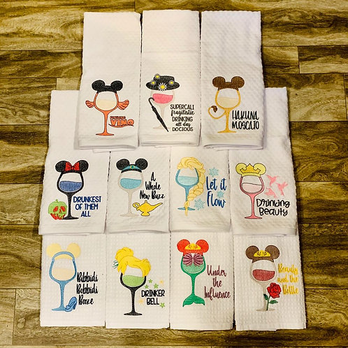 Character Wine Glass Kitchen Towel Pre-Sale