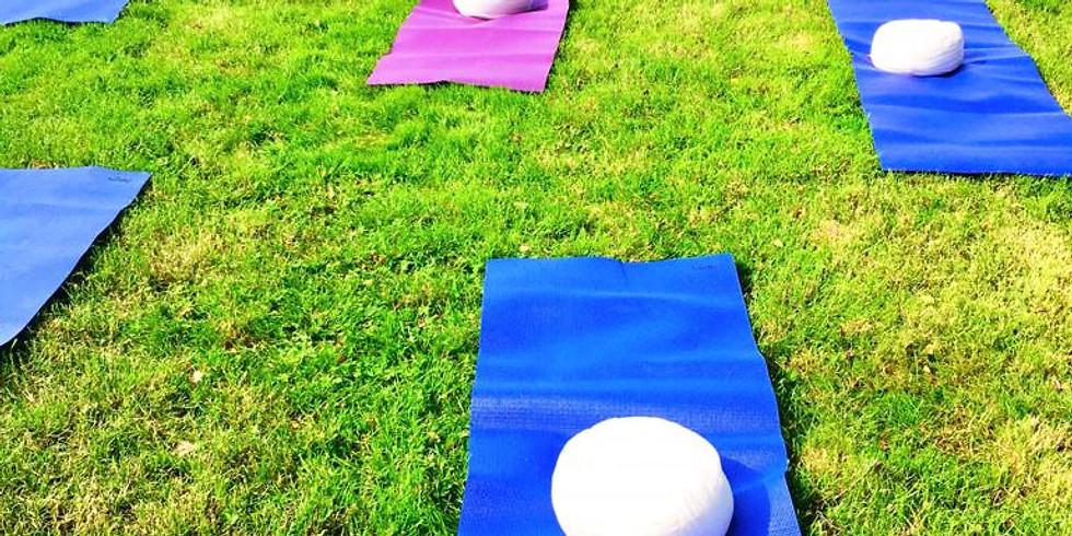 Pop-up yoga met Neel in de tuin