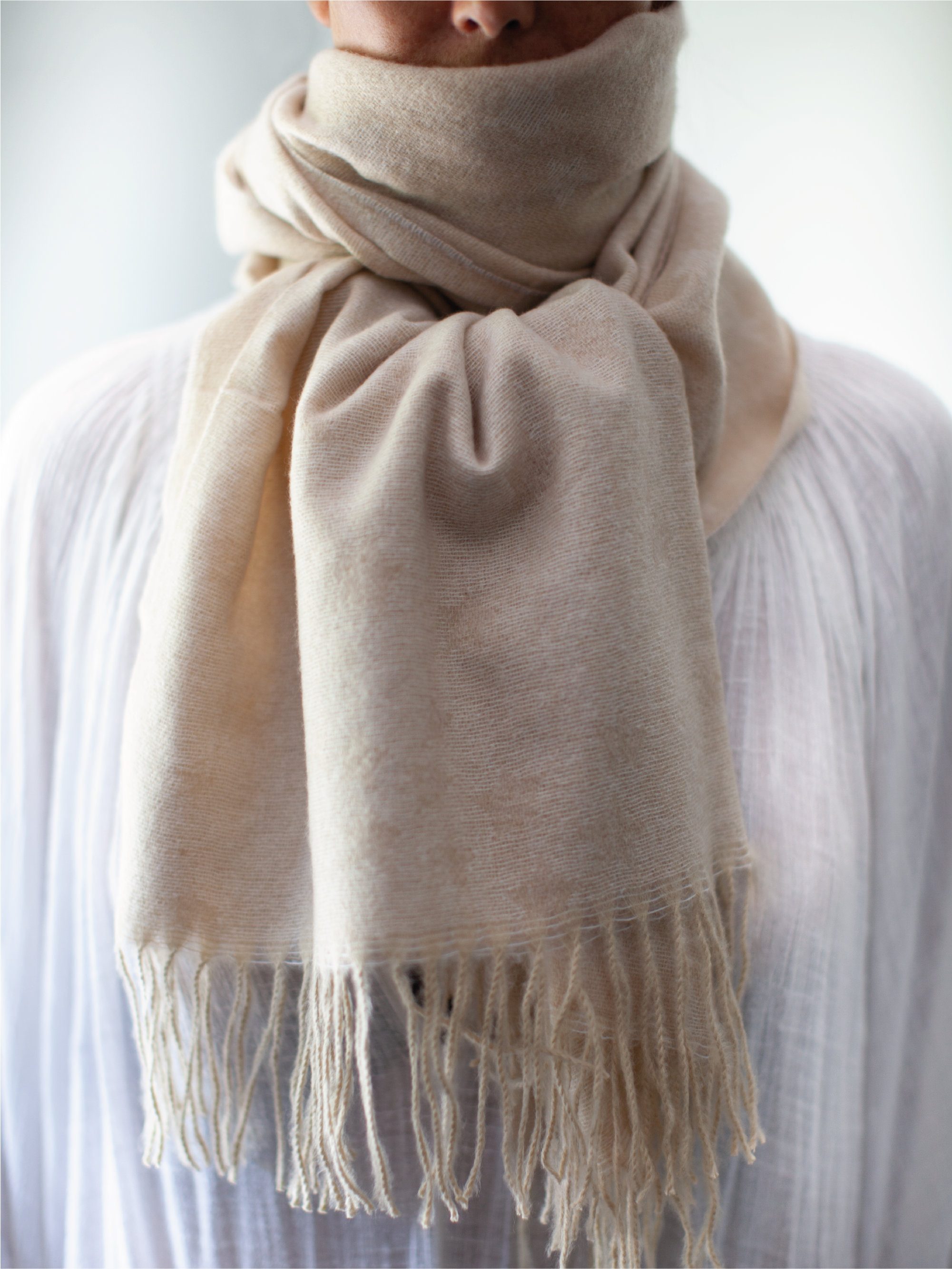 Scarf with faint stars in 3 colourways