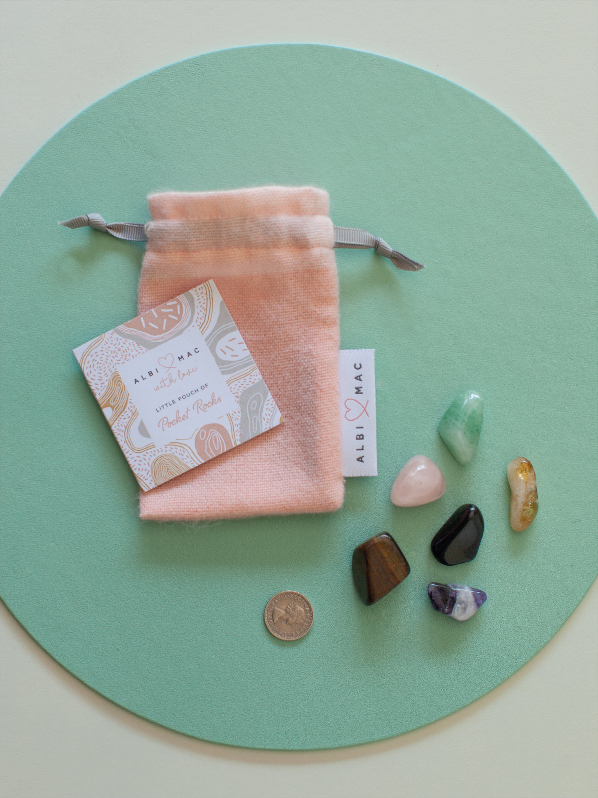 Albi & Mac pocket of rocks  which comes in a £25 gift box