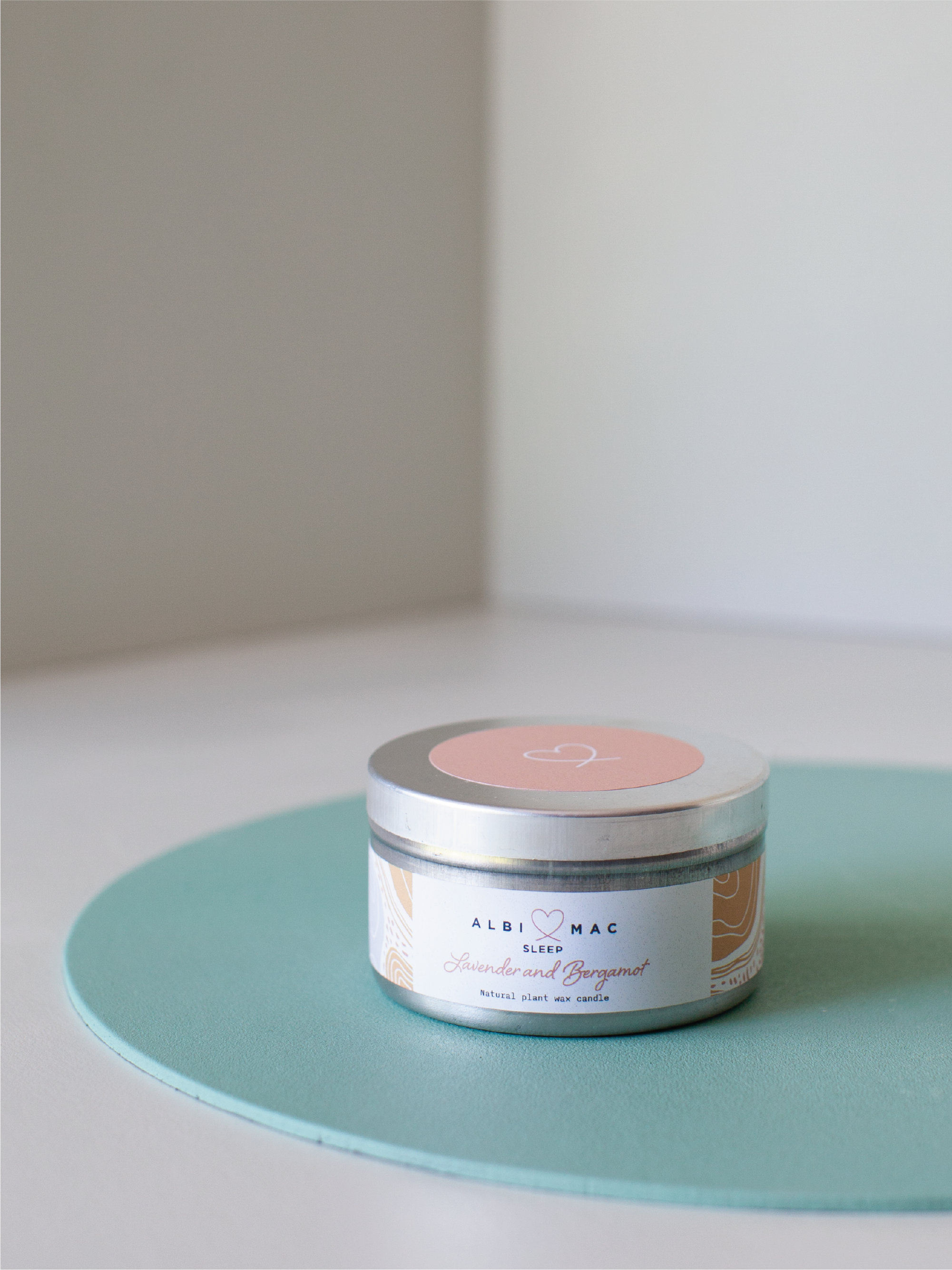 Albi & Mac Travel Candle in tin - 3 calming scents